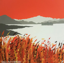 SOLD Autumn colours on Rydal Water