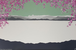 SOLD Cherry blossom over Windermere