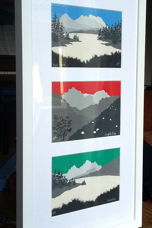 National 3 peaks framed