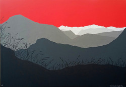 SOLD Descending from Scafell Pike