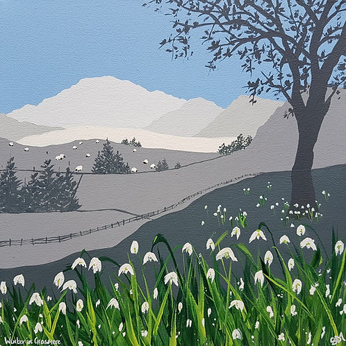 Greetings card - Winter in Grasmere