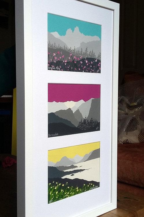 Langdale, Borrowdale & Wastwater framed paintings