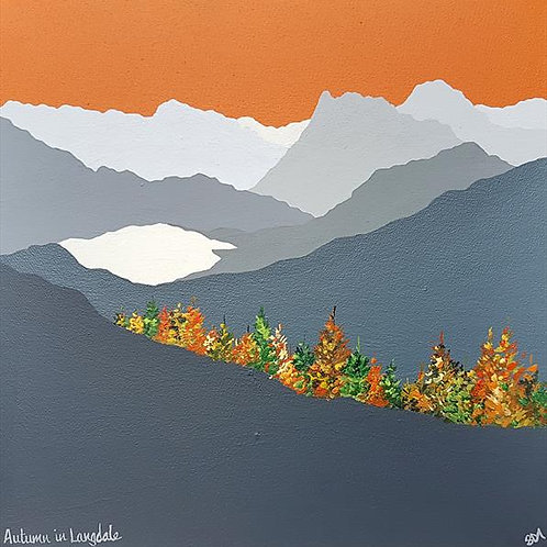 Greetings card - Autumn in Langdale