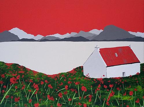 Cottage at Loch Shieldaig, Scotland