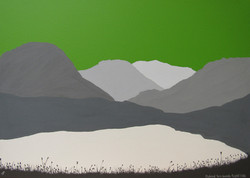 SOLD Scafell Pike from Styhead Tarn