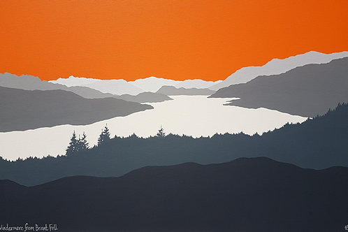 Print - Windermere from Brant Fell