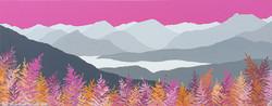 Pink skies above Derwent Water