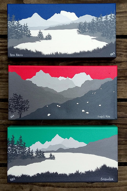 National 3 peaks (Ben Nevis, Snowdon, Scafell Pike)