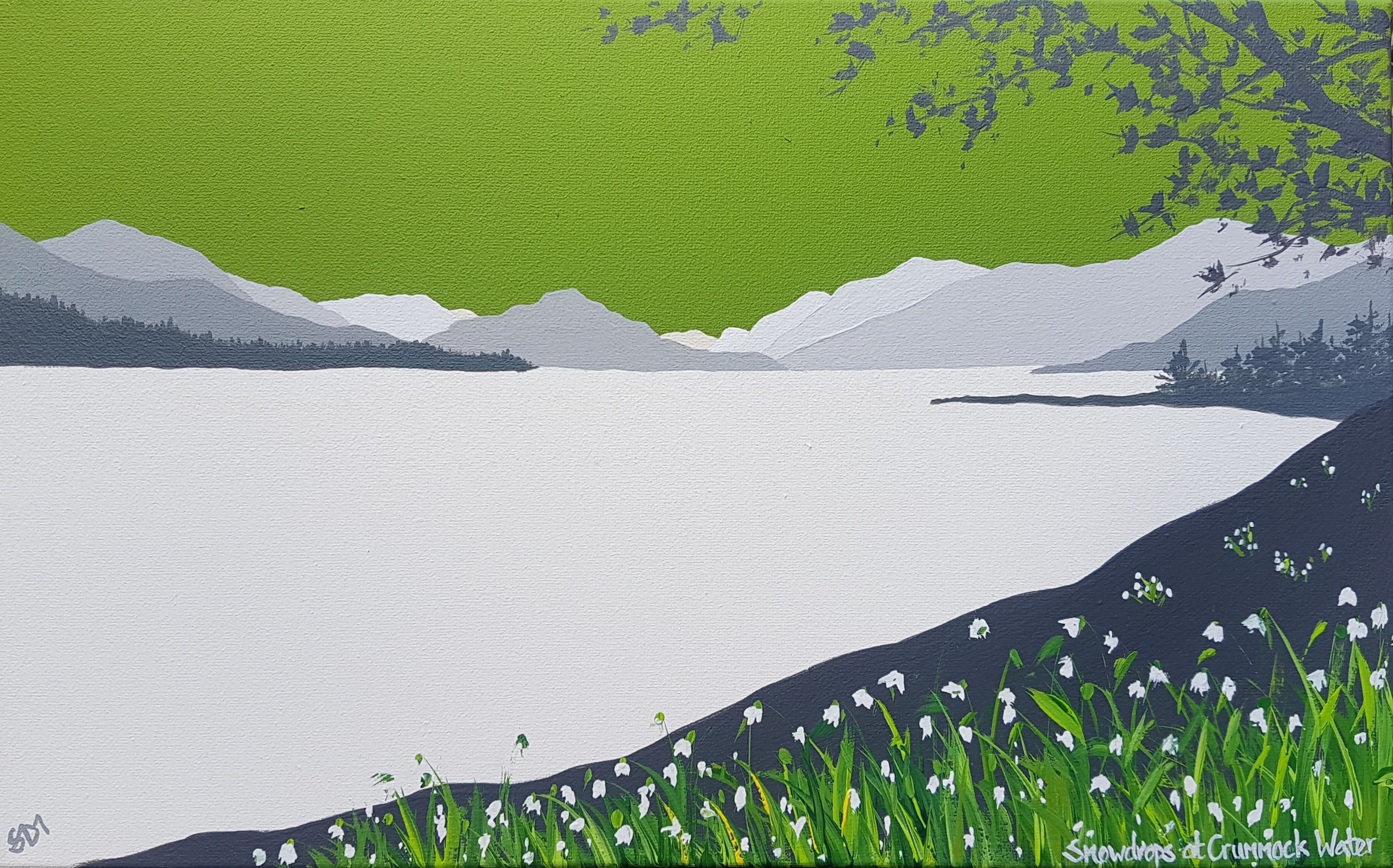 SOLD Snowdrops at Crummock Water