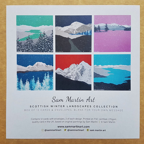 Scottish Winter Landscapes Collection (box of 12 cards)