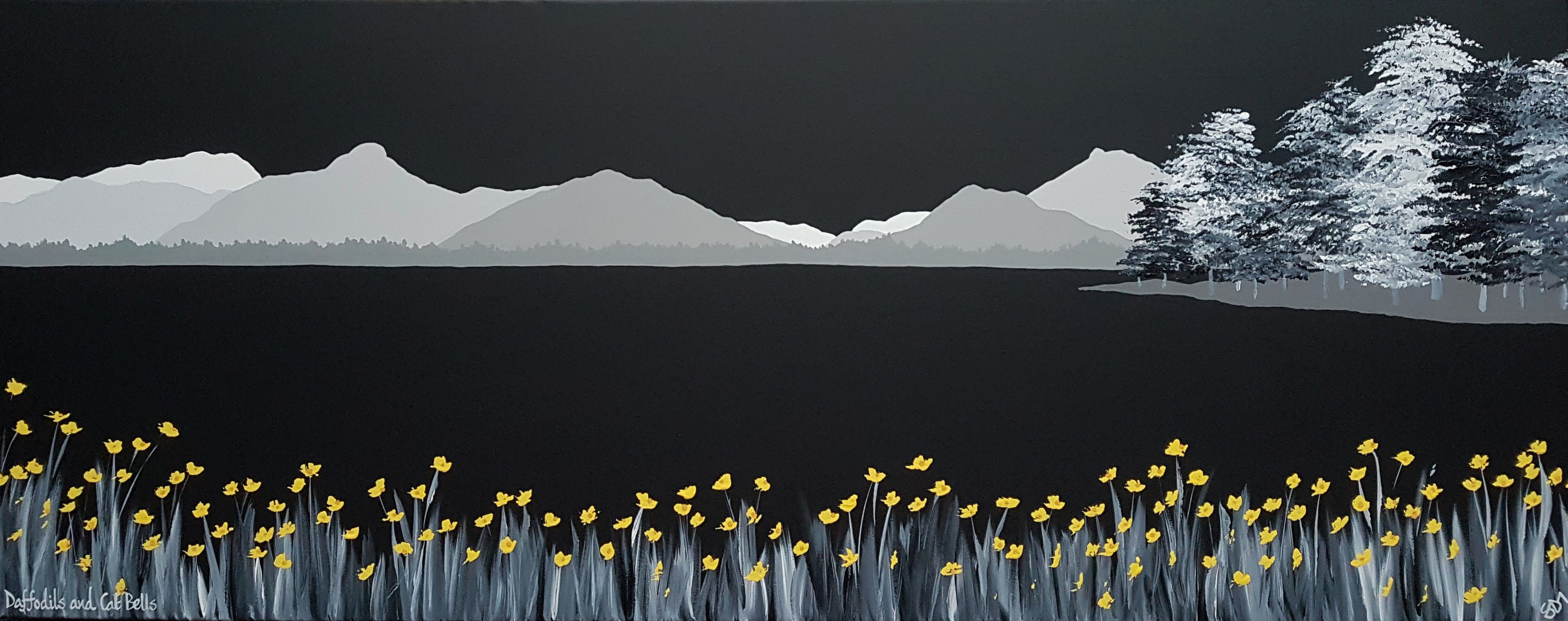 SOLD Daffodils & Cat Bells
