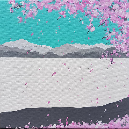 Greetings card - Cherry Blossom in Ambleside