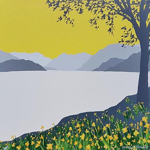 Greetings card - Spring at Ullswater