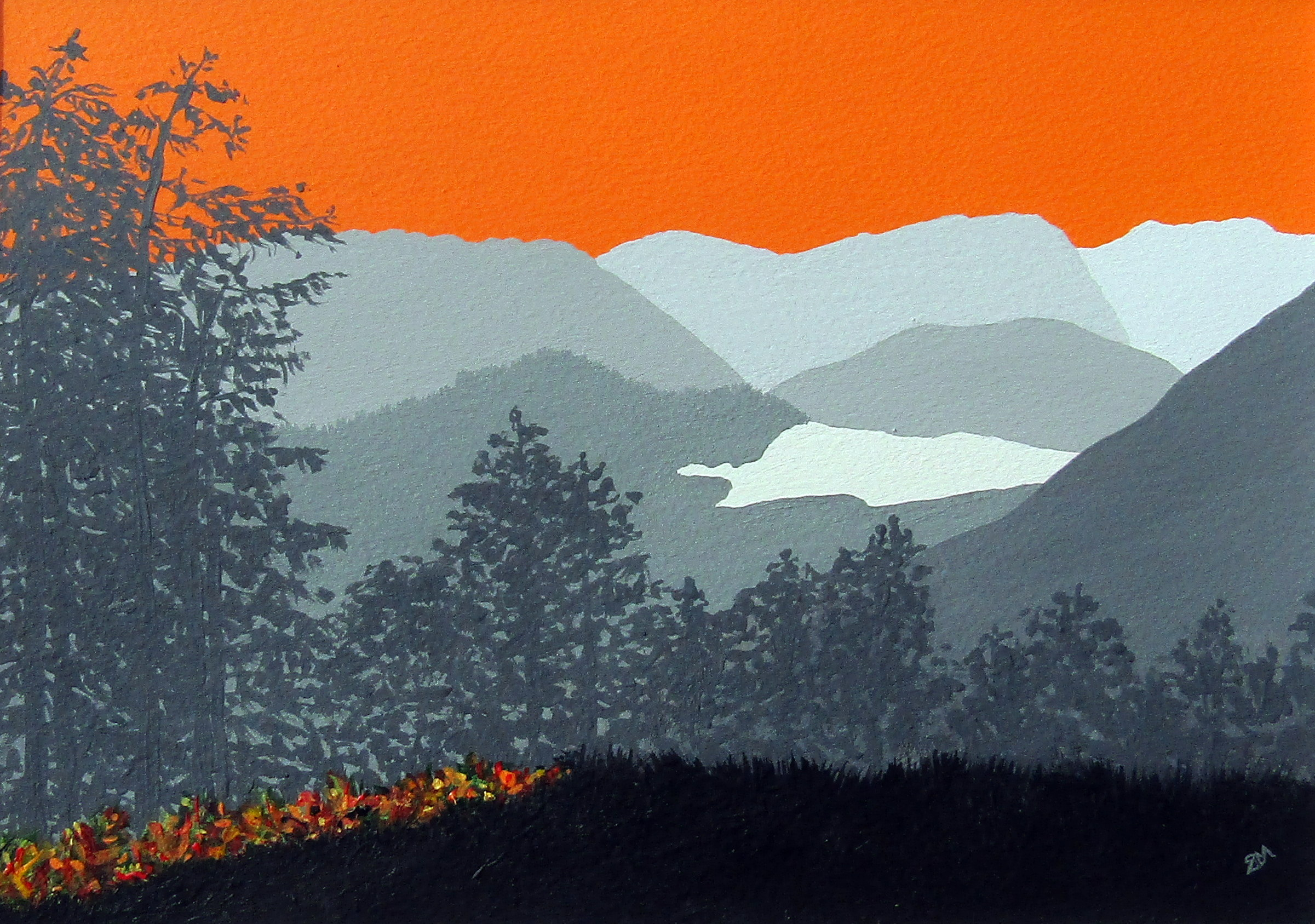 SOLD A peek of autumn on Place Fell