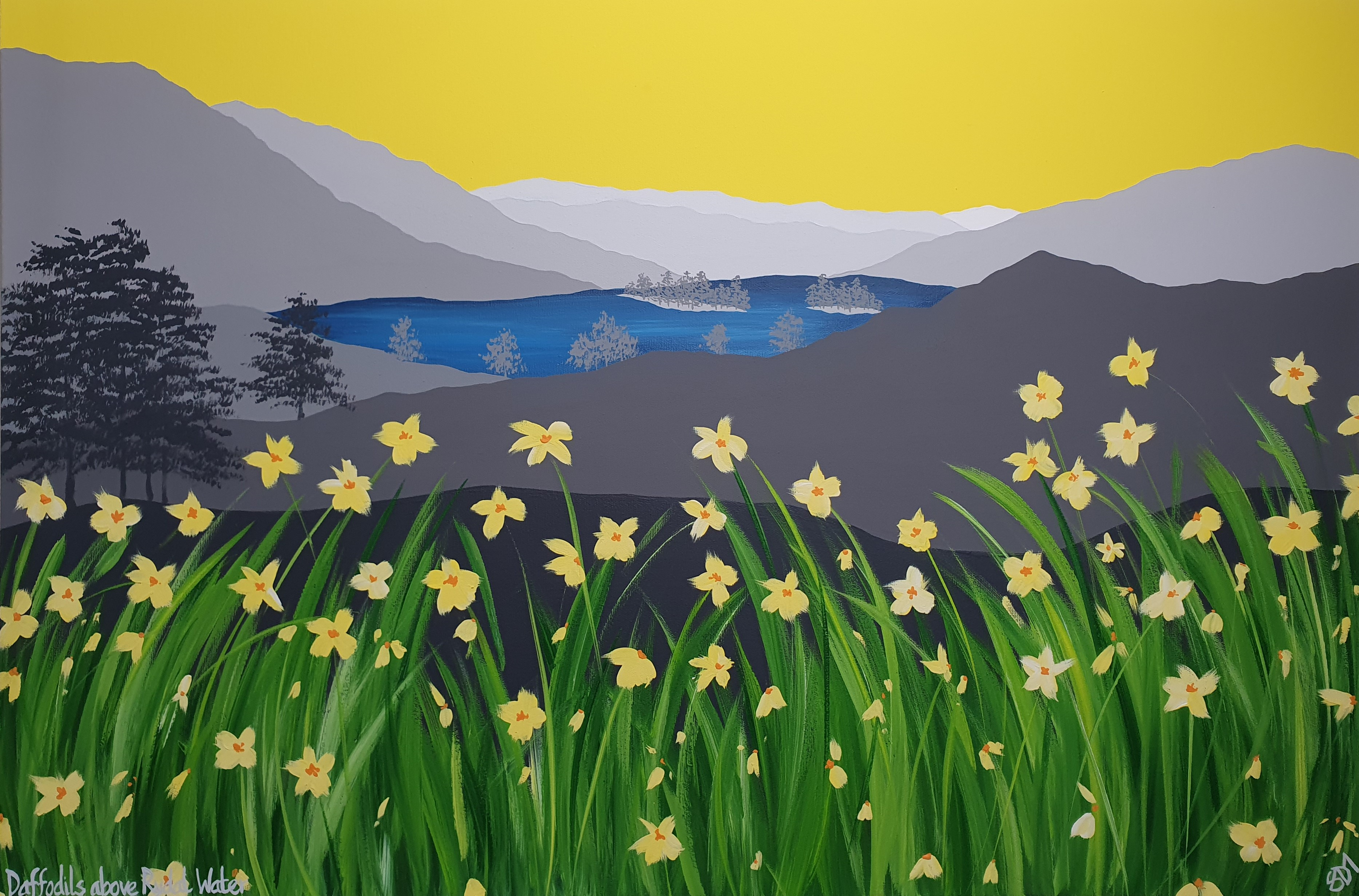 Daffodils above Rydal Water