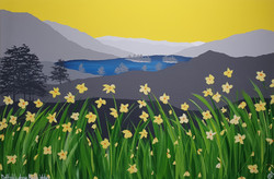 SOLD Daffodils above Rydal Water