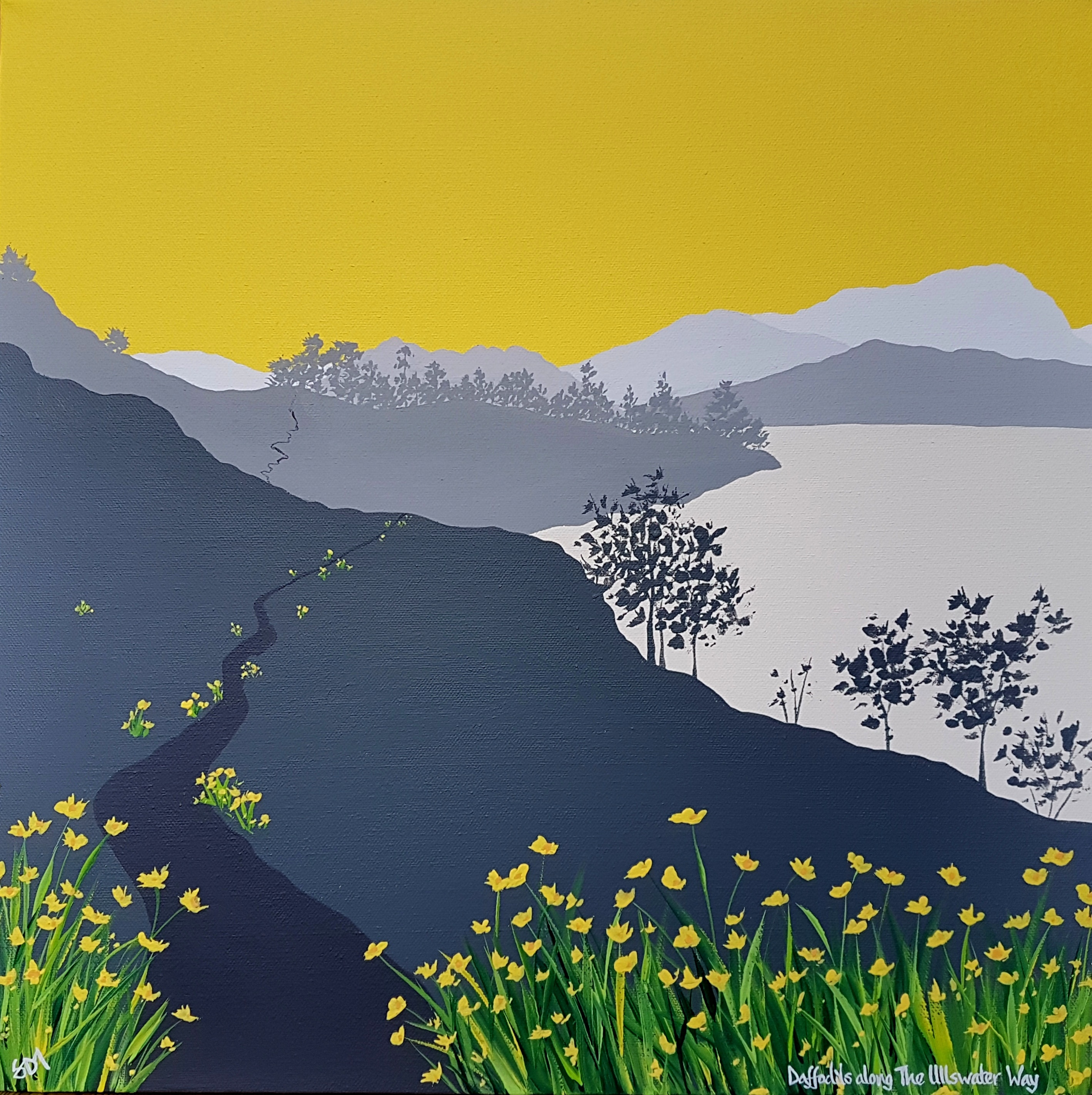 SOLD Daffodils along The Ullswater