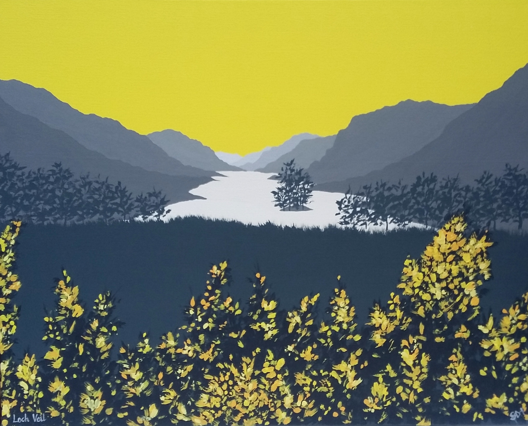 SOLD Gorse at Loch Voil