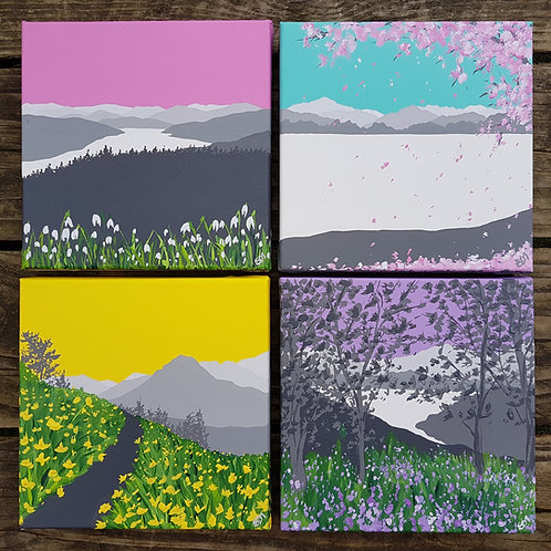 Spring in The Lakes (4 paintings)