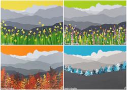 4 seasons in Langdale