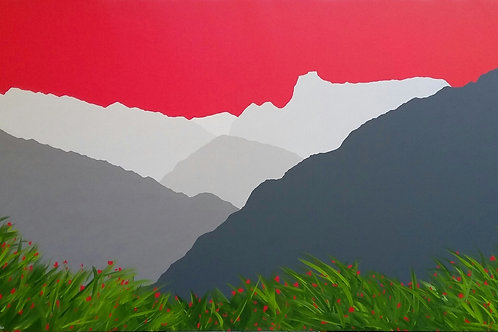 The Langdale Pikes, Very Large painting
