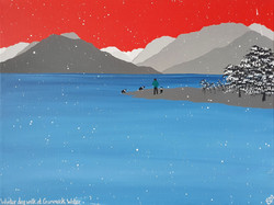 SOLD Winter dog walk at Crummock Water