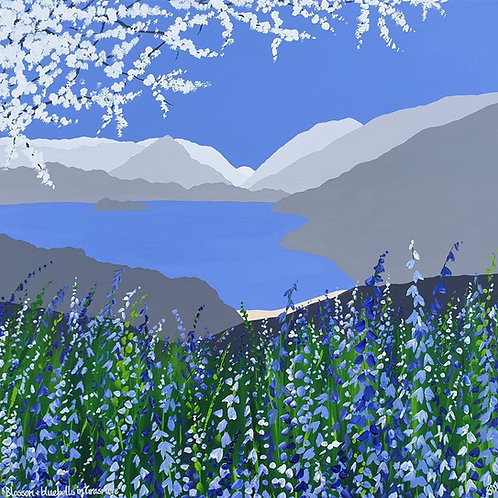 Print - Blossom & Bluebells in Grasmere