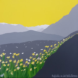SOLD Daffodils on Cat Bells Terrace