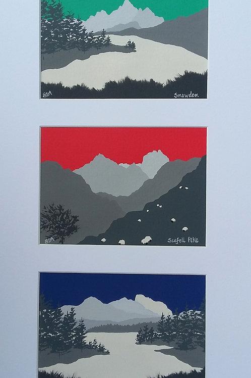National 3 peaks, Snowdon, Scafell Pike & Ben Nevis