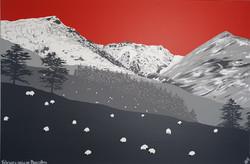 SOLD February snow on Blencathra