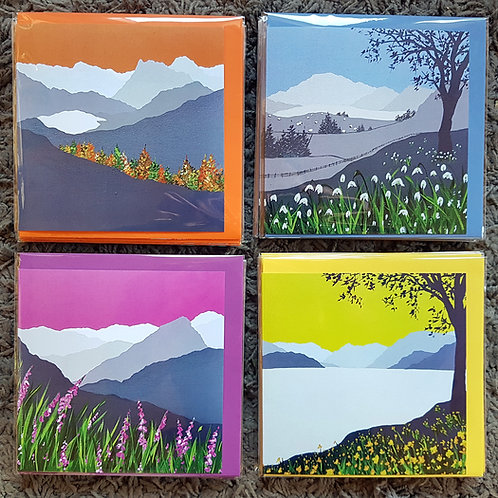 4 seasons in the Lakes (cards)