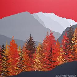 SOLD Autumn trees & Blencathra