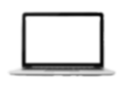 Laptop closeup on white background_edite