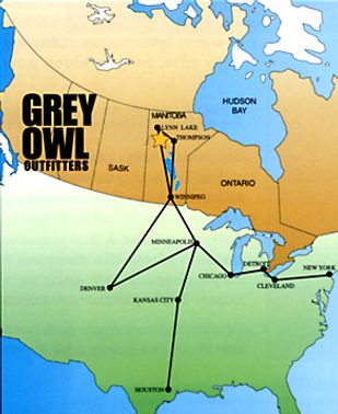 Map to Grey Owl Outfitters