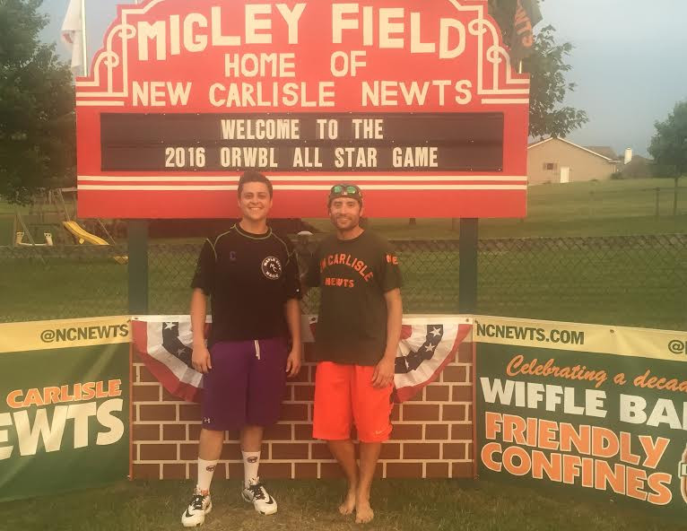 Current and former Commissioner Alex Friedman and Koby Keck after the All Star Game