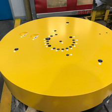 Finished component - Plug - yellow paint