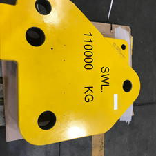 Finished component - plate  - yellow pai