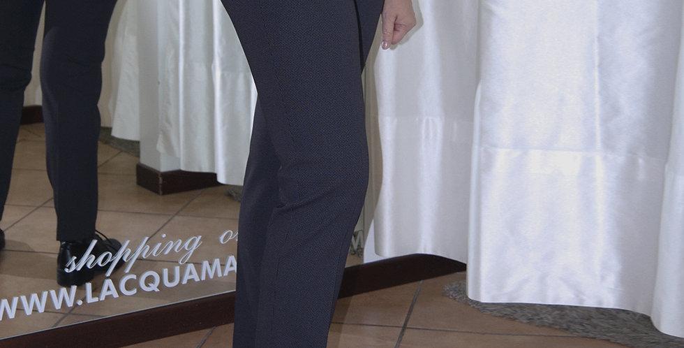 Pantalone disegno puntospillo elasticizzato con zip alle tasche