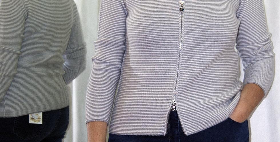 Cardigan in lana merino, colore grigio
