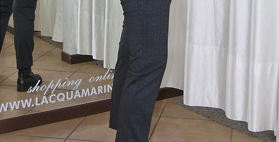 Pantalone scozzese elasticizzato con tasche