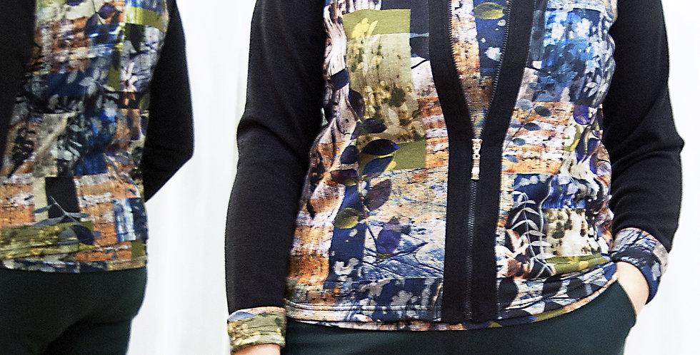 Cardigan con zip e maglietta mezza manica