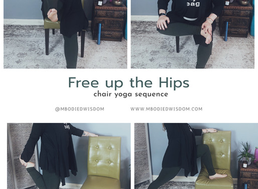 Free up the Hips: 4 Chair Yoga Poses to Release Tension from Sitting