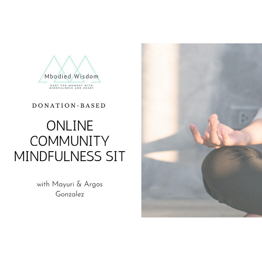 Online Community Mindfulness Sit (Donation Based)