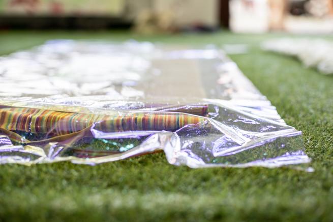 Ölteppich, 2015-2019, Installation, Detail, Größe variabel.