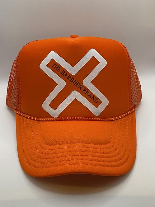 Orange & White Trucker