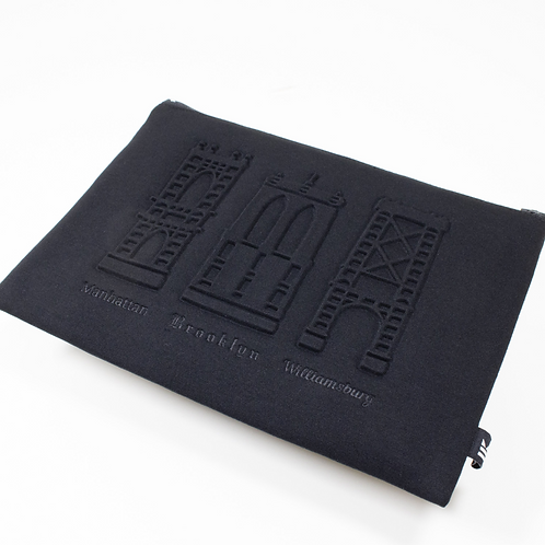 NYC Bridge embossed pouch (2 options)