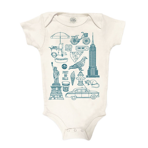 NYC Baby Organic Bodysuit (3 options)