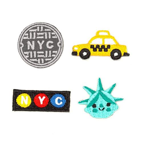NYC sticker patch set