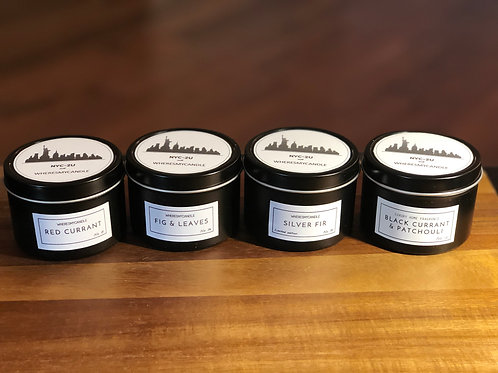5oz tin can candle set(4 cans)