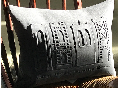 NYC Bridge embossed cushion cover
